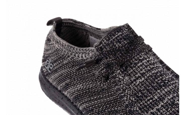 Półbuty heydude wally knit black white, czarny/ biały, materiał - trendy - mężczyzna 5
