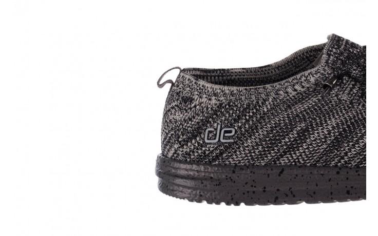 Półbuty heydude wally knit black white, czarny/ biały, materiał - trendy - mężczyzna 6