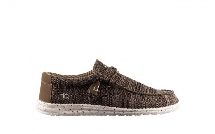 Półbuty heydude wally sox brown, khaki, materiał - sportowe - półbuty - buty męskie - mężczyzna