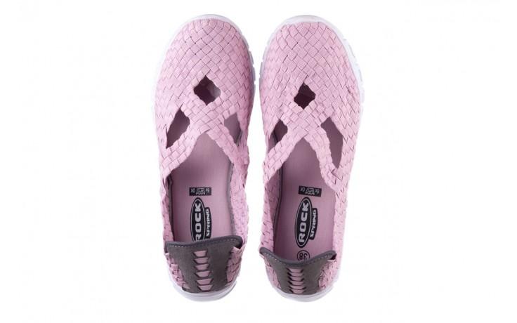 Półbuty rock carioca x dirty pink, róż, materiał - rock - nasze marki 4