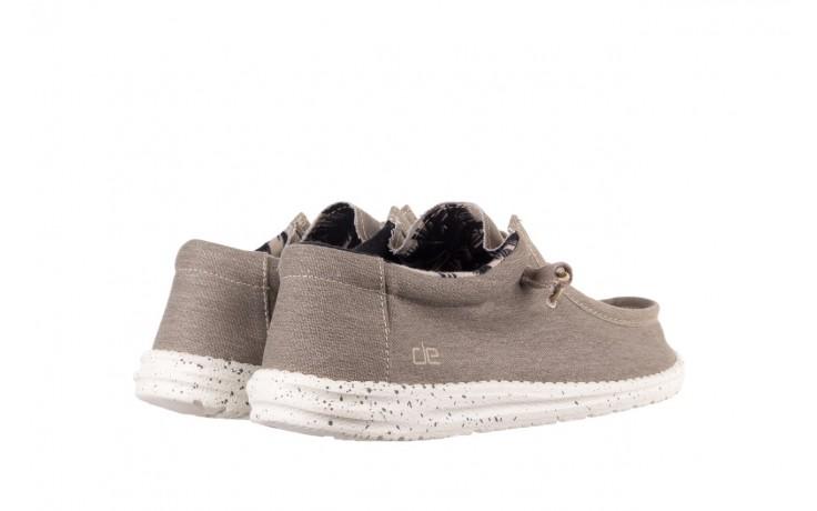 Półbuty heydude wally stretch beige, beż, materiał - sportowe - półbuty - buty męskie - mężczyzna 3