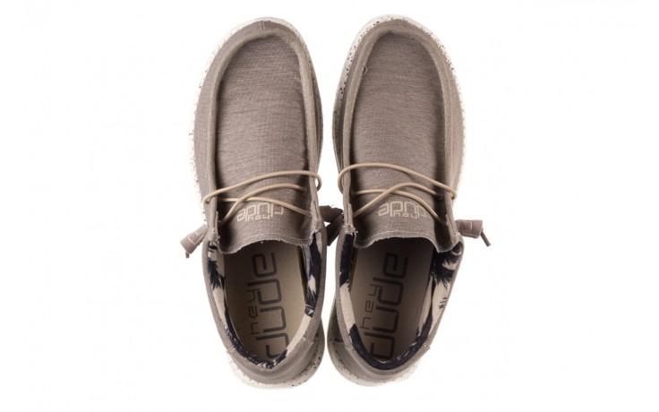 Półbuty heydude wally stretch beige, beż, materiał - sportowe - półbuty - buty męskie - mężczyzna 4