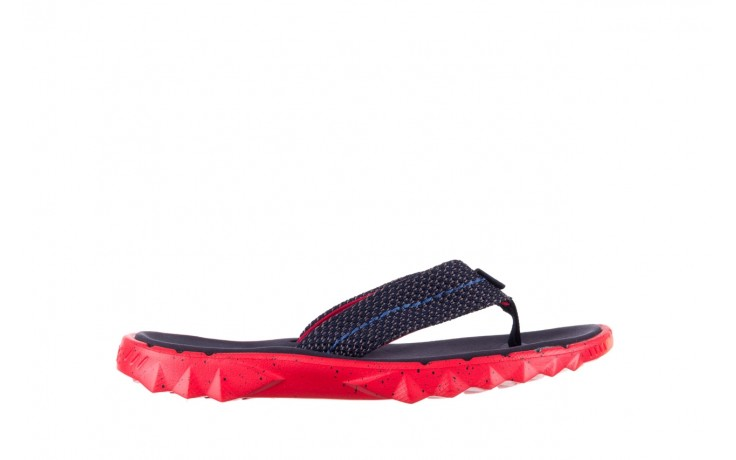 Klapki heydude sava sox blue red, czerwony/ granat, materiał - klapki - buty męskie - mężczyzna