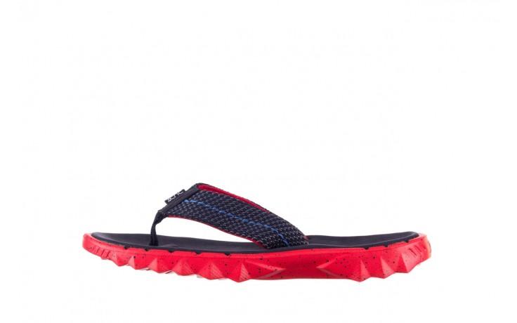 Klapki heydude sava sox blue red, czerwony/ granat, materiał - klapki - buty męskie - mężczyzna 2