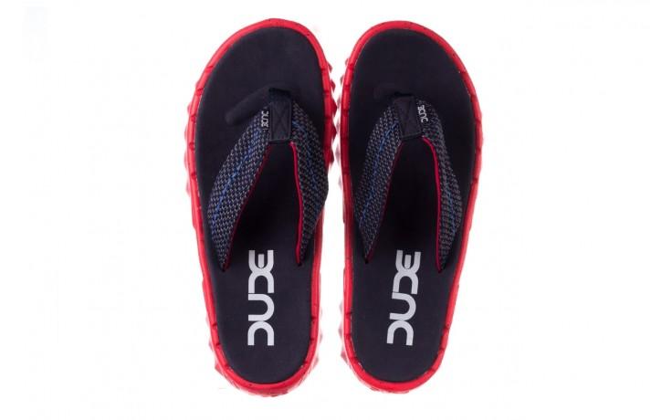 Klapki heydude sava sox blue red, czerwony/ granat, materiał - klapki - buty męskie - mężczyzna 4