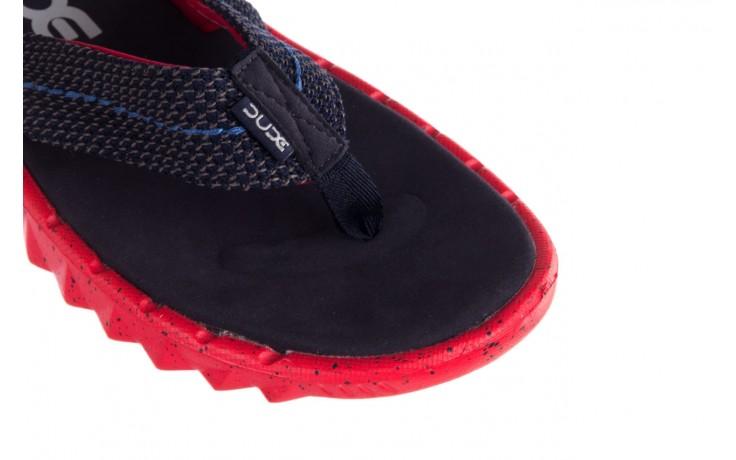 Klapki heydude sava sox blue red, czerwony/ granat, materiał - klapki - buty męskie - mężczyzna 5