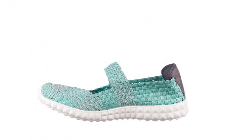 Półbuty rock nyc met mint 20, miętowy/ srebrny, materiał - sandały - buty damskie - kobieta 2