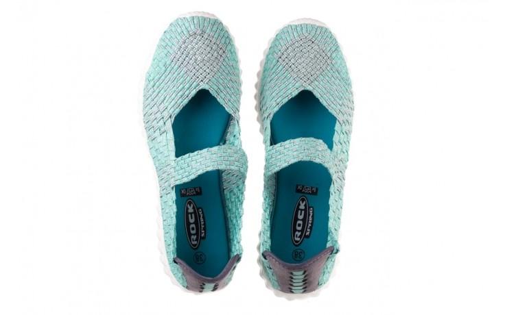 Półbuty rock nyc met mint 20, miętowy/ srebrny, materiał - sandały - buty damskie - kobieta 4