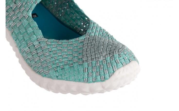 Półbuty rock nyc met mint 20, miętowy/ srebrny, materiał - sandały - buty damskie - kobieta 5