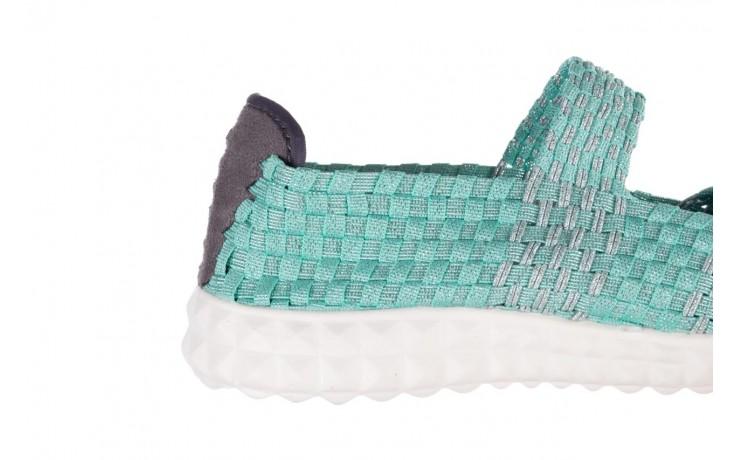Półbuty rock nyc met mint 20, miętowy/ srebrny, materiał - sandały - buty damskie - kobieta 6