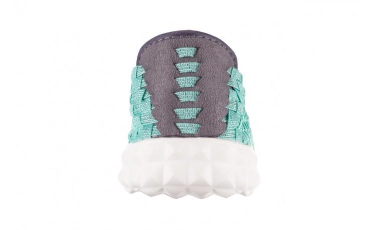 Półbuty rock nyc met mint 20, miętowy/ srebrny, materiał - sandały - buty damskie - kobieta 7