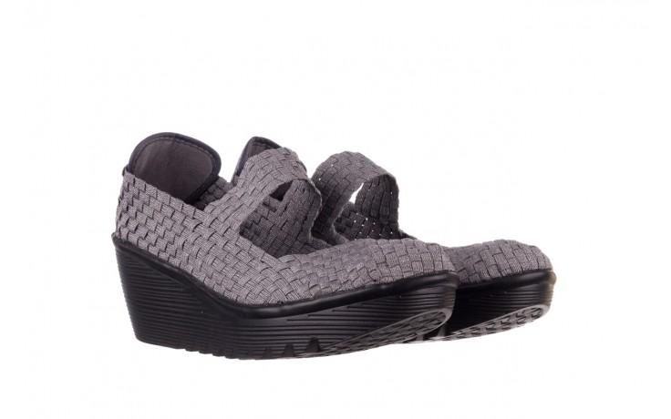 Półbuty rock brasil 2 grey silver lines, szary, materiał - koturny - buty damskie - kobieta 1