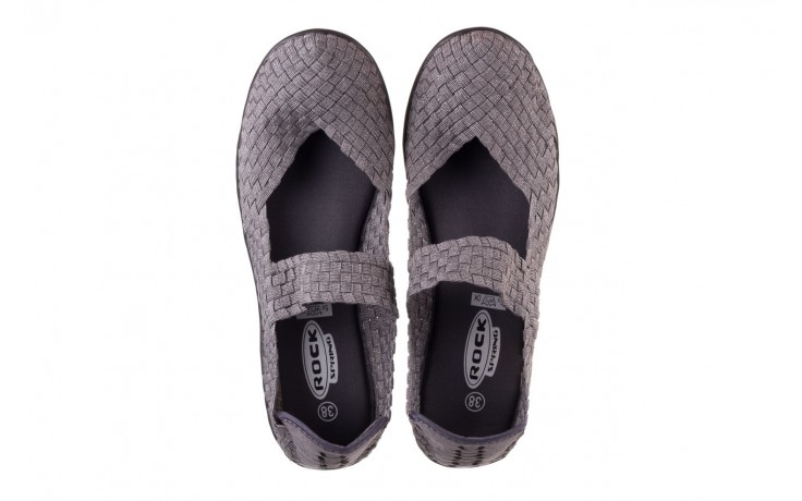 Półbuty rock brasil 2 grey silver lines, szary, materiał - koturny - buty damskie - kobieta 4