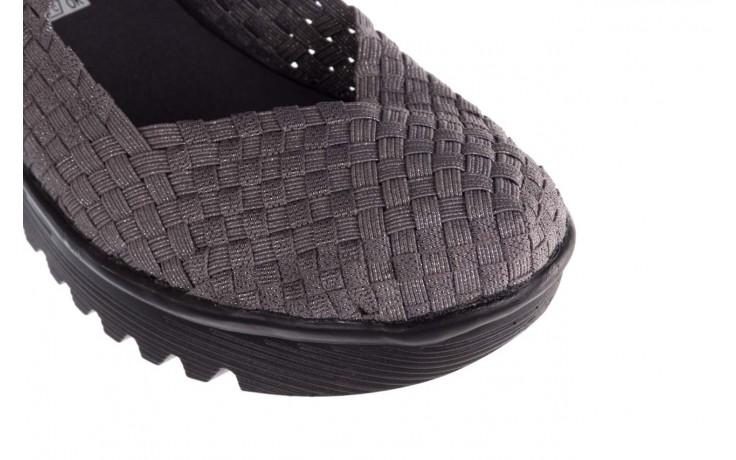 Półbuty rock brasil 2 grey silver lines, szary, materiał - koturny - buty damskie - kobieta 5