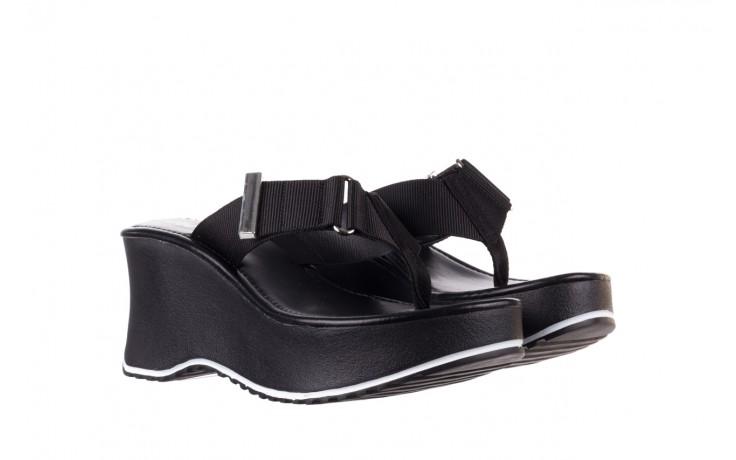 Klapki dijean 479 325 black, czarny, guma - japonki - klapki - buty damskie - kobieta 1