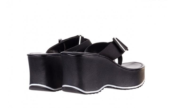 Klapki dijean 479 325 black, czarny, guma - mega okazje - ostatnie rozmiary 3