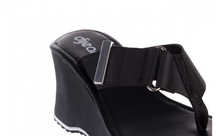 Klapki dijean 479 325 black, czarny, guma - mega okazje - ostatnie rozmiary 5