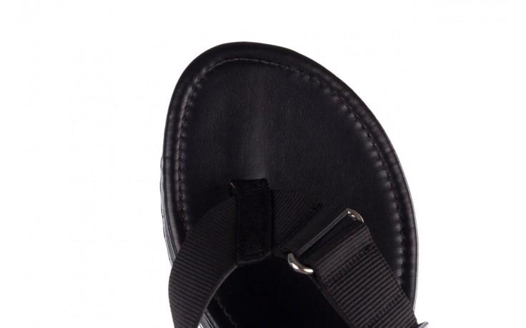 Klapki dijean 479 325 black, czarny, guma - mega okazje - ostatnie rozmiary 6