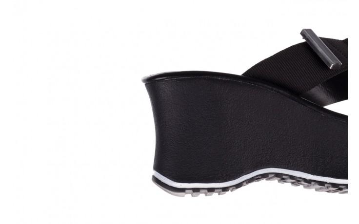 Klapki dijean 479 325 black, czarny, guma - mega okazje - ostatnie rozmiary 7