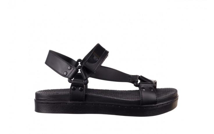 Sandały dijean 286 276 black-black, czarny, guma - mega okazje - ostatnie rozmiary