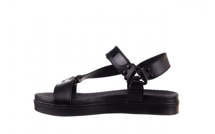 Sandały dijean 286 276 black-black, czarny, guma - mega okazje - ostatnie rozmiary 2