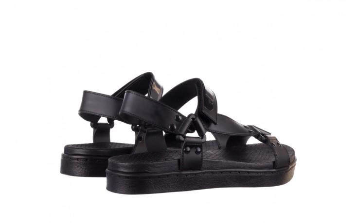 Sandały dijean 286 276 black-black, czarny, guma - mega okazje - ostatnie rozmiary 3