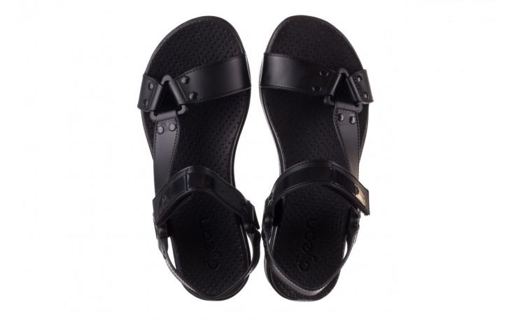 Sandały dijean 286 276 black-black, czarny, guma - mega okazje - ostatnie rozmiary 4