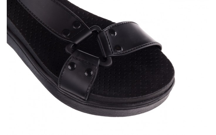 Sandały dijean 286 276 black-black, czarny, guma - mega okazje - ostatnie rozmiary 5