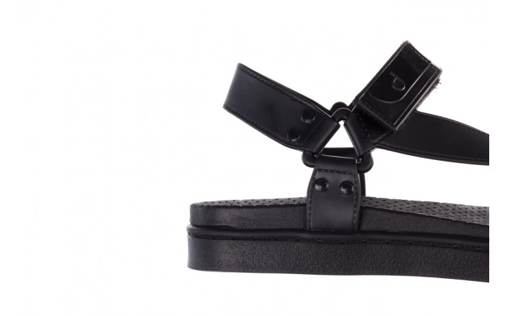 Sandały dijean 286 276 black-black, czarny, guma - mega okazje - ostatnie rozmiary 6