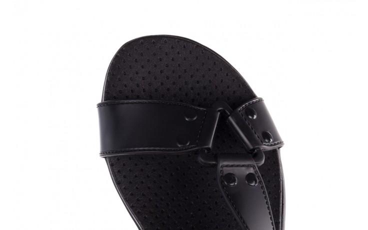 Sandały dijean 286 276 black-black, czarny, guma - mega okazje - ostatnie rozmiary 7