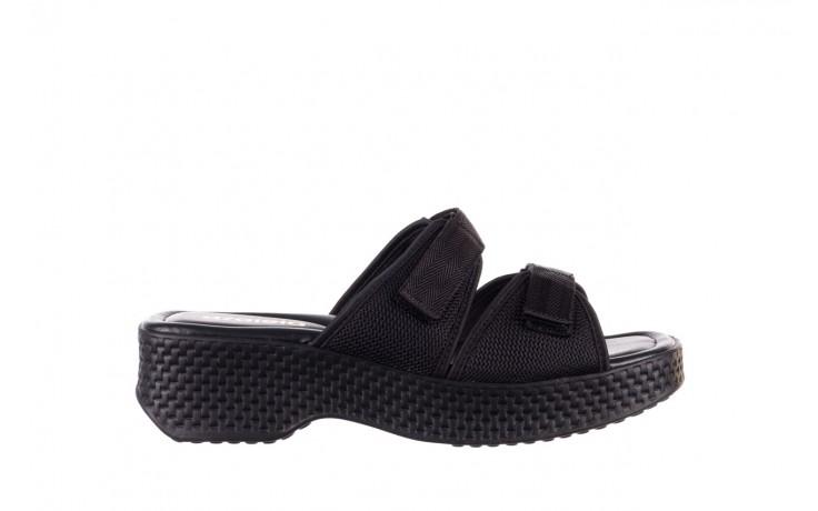 Klapki azaleia 321 291 black, czarny, materiał - azaleia - nasze marki