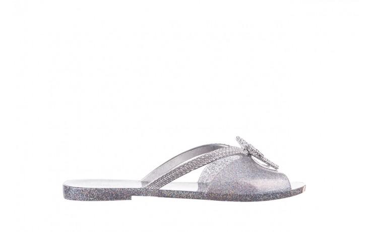Klapki melissa ela chrome ad holographic glitter, srebrny, guma - gumowe/plastikowe - klapki - buty damskie - kobieta