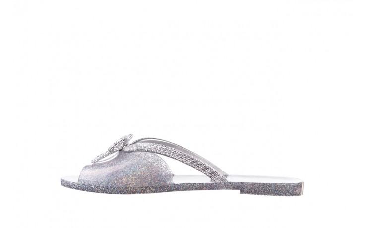 Klapki melissa ela chrome ad holographic glitter, srebrny, guma 2