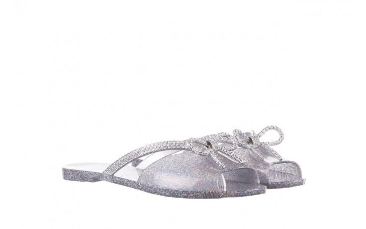 Klapki melissa ela chrome ad holographic glitter, srebrny, guma - gumowe/plastikowe - klapki - buty damskie - kobieta 1