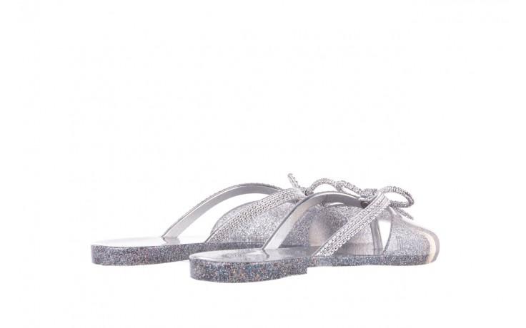 Klapki melissa ela chrome ad holographic glitter, srebrny, guma - gumowe/plastikowe - klapki - buty damskie - kobieta 3
