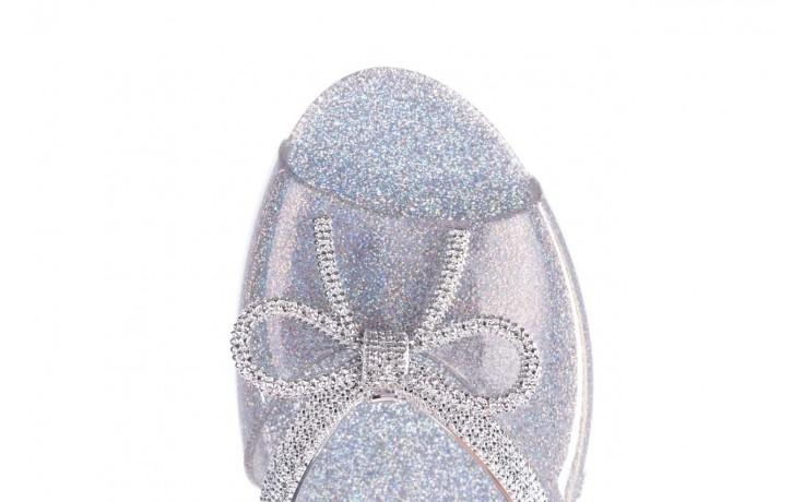Klapki melissa ela chrome ad holographic glitter, srebrny, guma 6