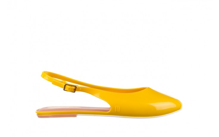 Sandały melissa lipstick ad yellow brown white, żółty, guma  - melissa - nasze marki
