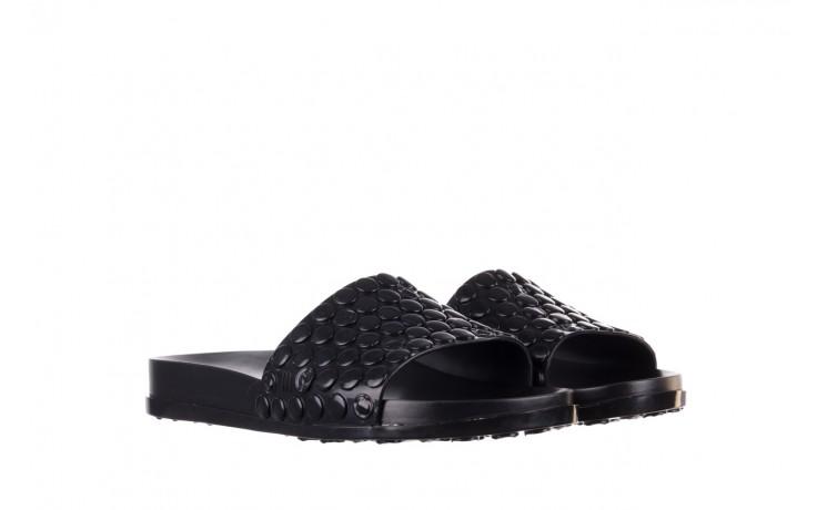 Klapki melissa polibolha slide ad black, czarny, guma - gumowe/plastikowe - klapki - buty damskie - kobieta 1