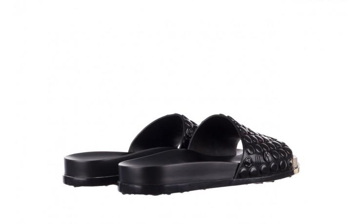Klapki melissa polibolha slide ad black, czarny, guma - gumowe/plastikowe - klapki - buty damskie - kobieta 3