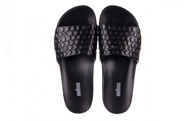 Klapki melissa polibolha slide ad black, czarny, guma - gumowe/plastikowe - klapki - buty damskie - kobieta 4