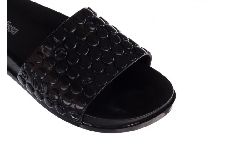 Klapki melissa polibolha slide ad black, czarny, guma - gumowe/plastikowe - klapki - buty damskie - kobieta 5