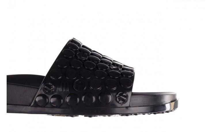Klapki melissa polibolha slide ad black, czarny, guma - gumowe/plastikowe - klapki - buty damskie - kobieta 6