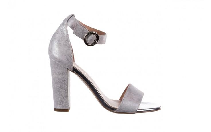 Sandały bayla-056 8024-1089 srebrny, skóra naturalna  - na obcasie - sandały - buty damskie - kobieta
