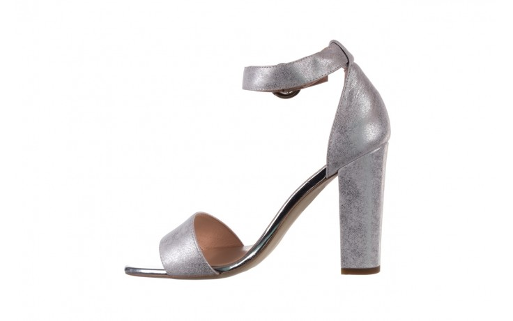 Sandały bayla-056 8024-1089 srebrny, skóra naturalna  - na obcasie - sandały - buty damskie - kobieta 2