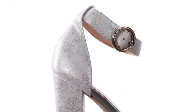 Sandały bayla-056 8024-1089 srebrny, skóra naturalna  - na obcasie - sandały - buty damskie - kobieta 6