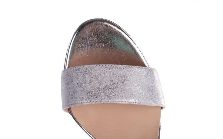 Sandały bayla-056 8024-1089 srebrny, skóra naturalna  - na obcasie - sandały - buty damskie - kobieta 7