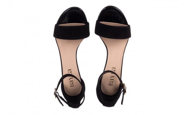 Sandały bayla-056 8024-21 czarny zamsz, skóra naturalna - wiosna-lato 2019 4