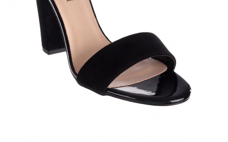 Sandały bayla-056 8024-21 czarny zamsz, skóra naturalna 5