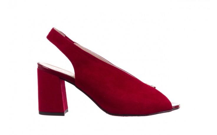 Sandały bayla-056 8097-1432 bordo zamsz, skóra naturalna  - dla niej  - sale