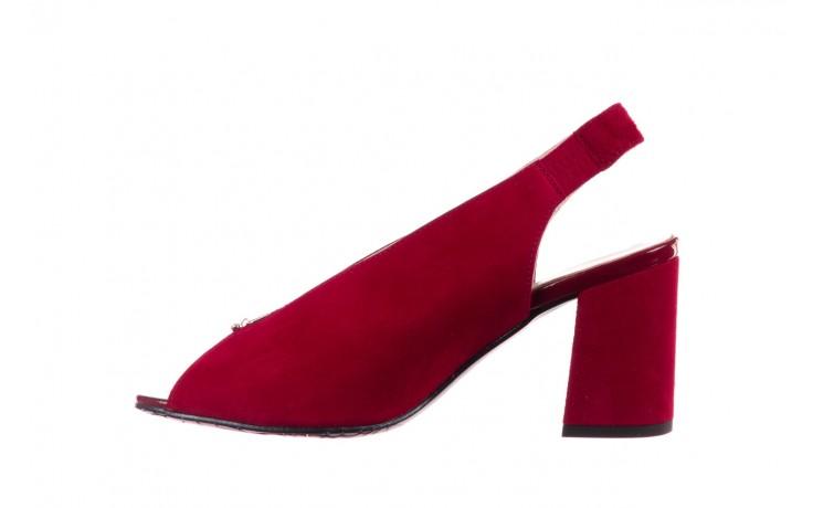 Sandały bayla-056 8097-1432 bordo zamsz, skóra naturalna  - dla niej  - sale 2